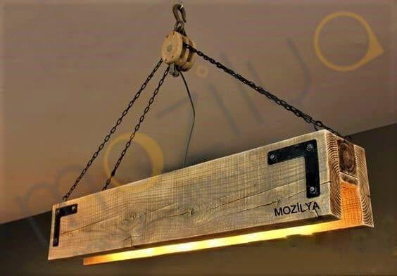 Mozilya Doğal Ahşap Palanga Avize  wood wooden lamp chandelier lighting unit  www.mozilya.com