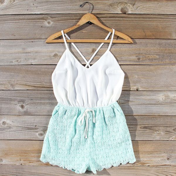 Sea Lace Romper, Sweet Affordable Rompers & Dresses from Spool 72. | Spool No.72