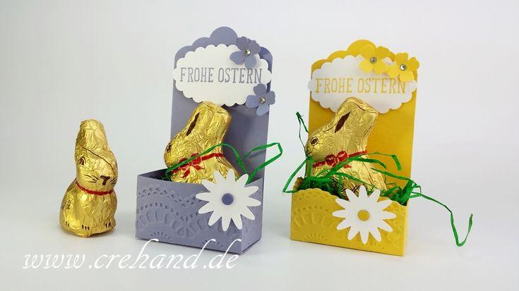 Osternest für Mini-Goldhase von Lindt, Goodie, crehand, Stampin Up 2016