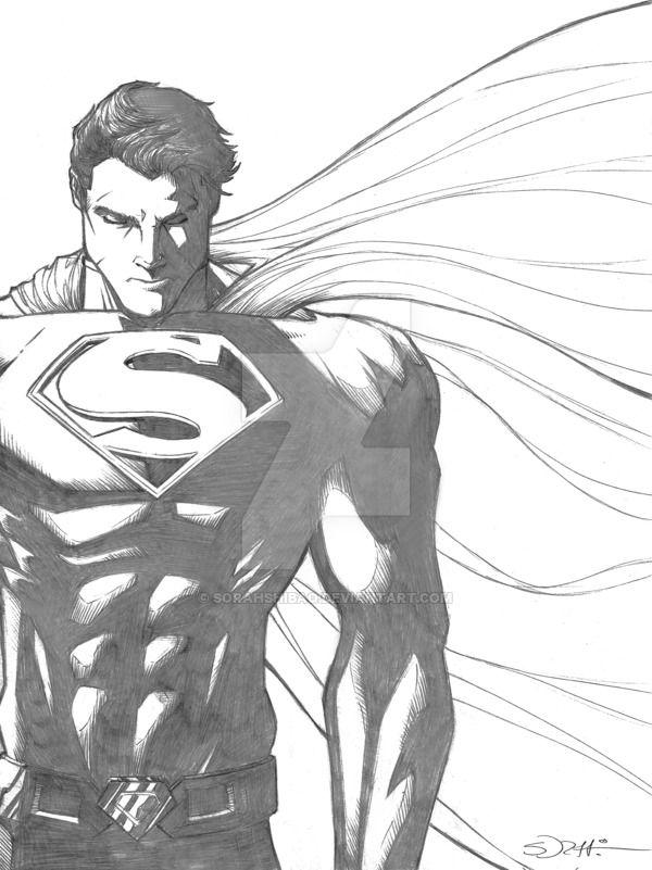 тоді рисунок супермена карандашом меню снизу