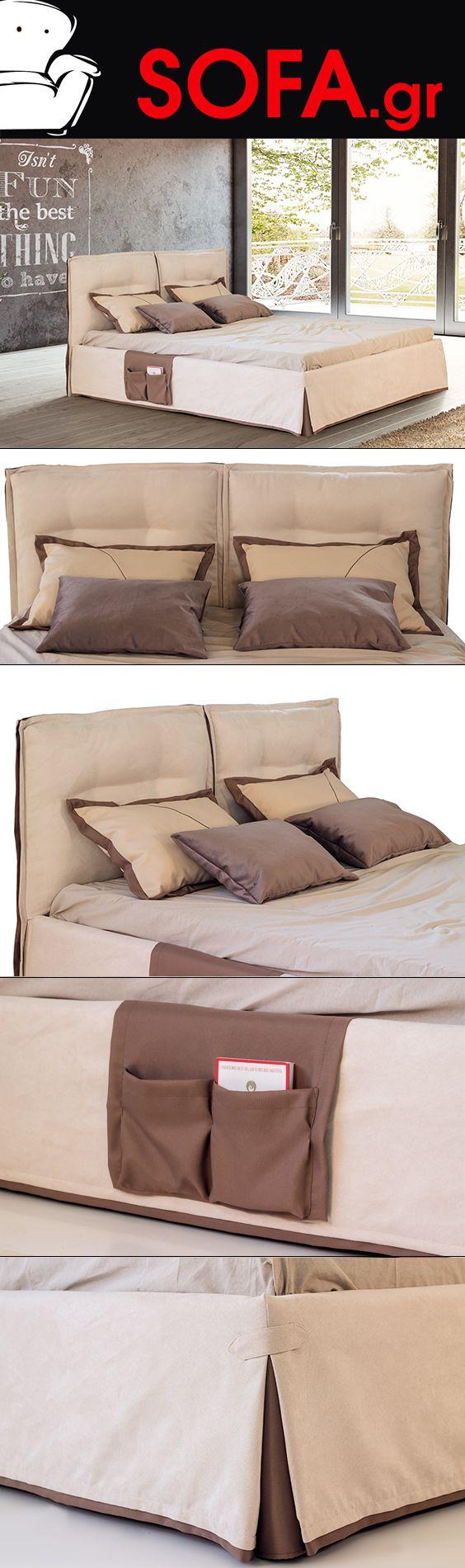 Κρεβάτι υφασμάτινο Aria με αποσπώμενο ύφασμα.  Kρεβάτι νεανικό γερής κατασκευής με αποσπώμενο ύφασμα για εύκολο πλύσιμο.Μοναδικό κρεβάτι με καποτινέ κεφαλάρι, αποσπώμενο ύφασμα σε μπεζ απόχρωση με ενσωματωμένη θήκη για περιοδικά και τηλεκοντρόλ με γραπτή εγγυηση ποιότητας.  https://sofa.gr/krevatokamares/krevatokamara-aria