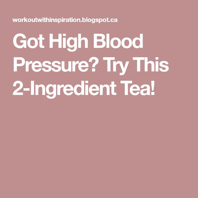 Got High Blood Pressure? Try This 2-Ingredient Tea!