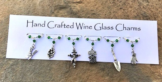Gifts for Gardeners - Stocking Fillers - Wine Glass Charms - Gifts for Her £9.99