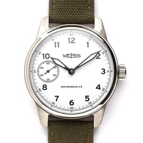 Standard Issue Field Watch, White Dial | American Made Watches | Weiss Watch Company