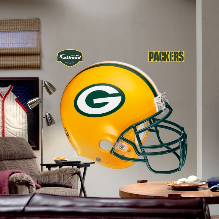 Fathead Green Bay Packers Helmet Wall Graphic   11 10012 Part 68