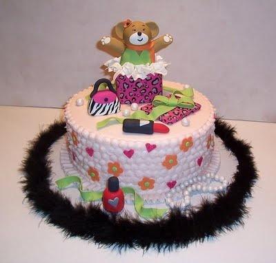 A girly build a bear cake