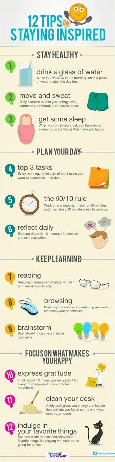 Every Successful Day starts with an Inspiration. Here are some tips to be inspired everyday. :-) (Please Save the Image in your Computer∕Device and Zoom it for easy reading) For more travel updates be connected to Travel Universally