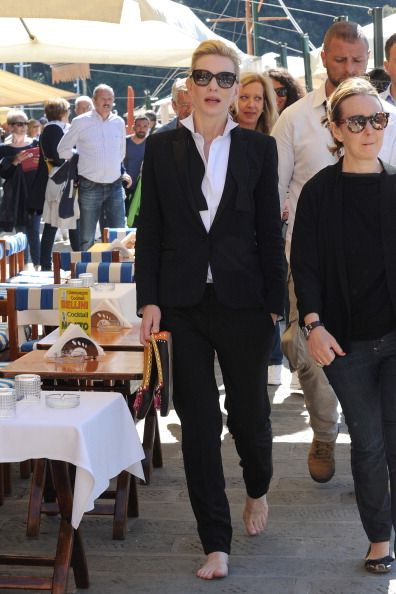 Cate Blanchett is seen while filming for the International Watch Company (IWC) on May on May 18, 2014 in Portofino, Italy.