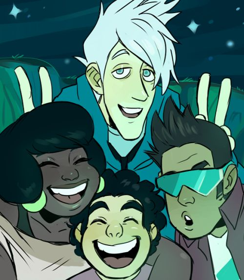 jubilatio:I was expecting to see another case of older kids chilling with the little kid because it'd be funny type scenario but they genuinely like Steven and hanging out with him and they care about his well-being. And that's so refreshing. Art by http://madithefreckled.tumblr.com/