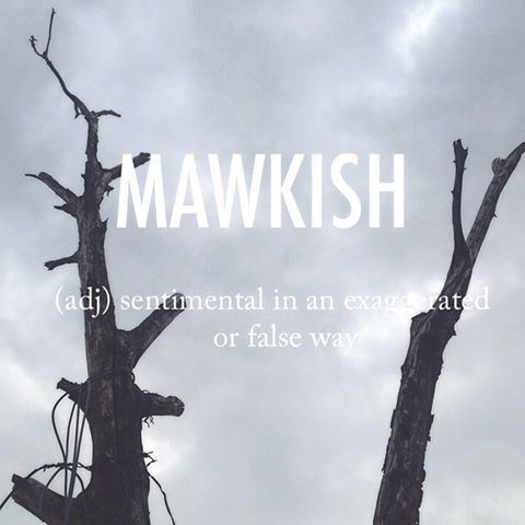 Mawkish |ˈmɔːkɪʃ| mid 17th century origin (in the sense 'inclined to sickness'): from obsolete mawk 'maggot', from Old Norse mathkr, of Germanic origin #beautifulwords #wordoftheday #winter #Hamyang #함양 #weekendtrips