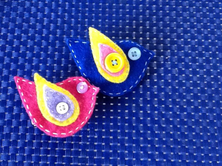 Large bird brooch/clips