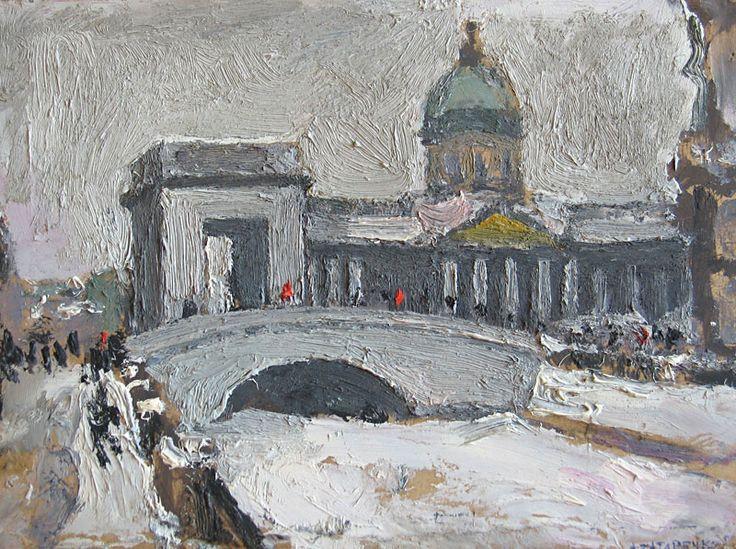 Оригинал взят у leningradartist в Ленинградская улица в живописи 1940-1990-х Г. Савинов. Невский проспект. 1984 Пройдёмся вместе с художниками. Это больше, чем история, и даже…