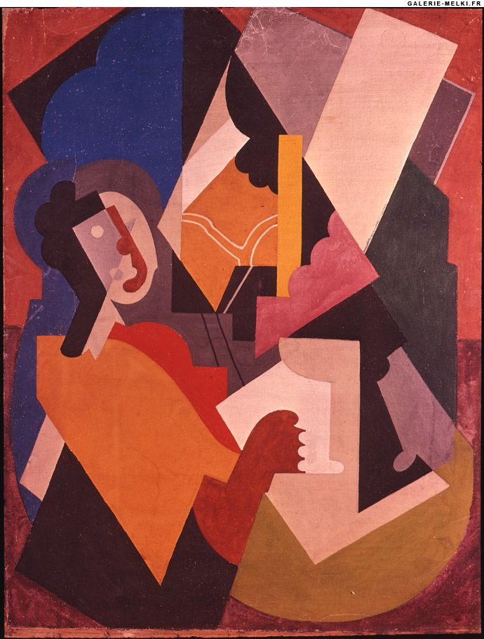 Albert GLEIZES. Untitled.  1920. Oil on canvas. Size in Cm: 92 x 73. The painter and art author Albert Gleizes, who became known as the main representative of Cubism, was born in Paris in 1881.