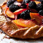Our mouths are watering over this Nectarine or Peach and Blackberry Galette!
