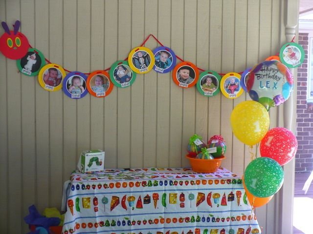 The Very Hungry Caterpillar / Birthday banner 1-12 months