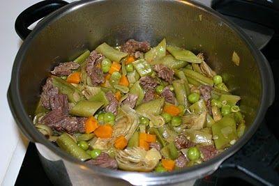 COCINA EN OLLA RAPIDA: Menestra de Verduras
