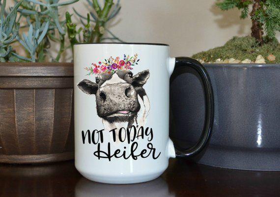 Adorable 11 oz Black Ceramic Tea Cup Cu Country Girl Coffee Mug Country Sass