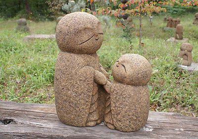 Jizo bosatsu. Japan-Collection-Healing-Ksitigarbha-made-of-Granite-JIZO-H-26-cm