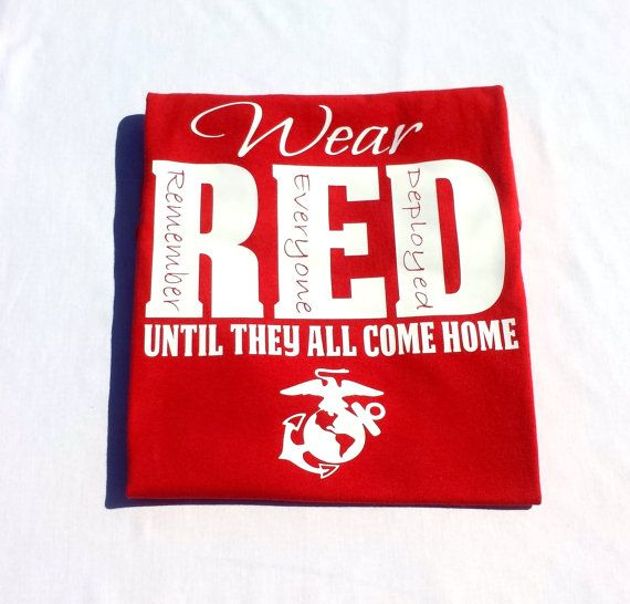 USMC Marine Corps Red Friday TShirt by HandmadeByLeeAnn on Etsy, $18.99