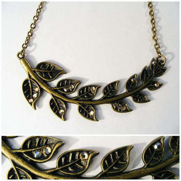 Eve: Pretty leaf-detail necklace embellished with peachy Swarovski crystals. Your mom will love it!