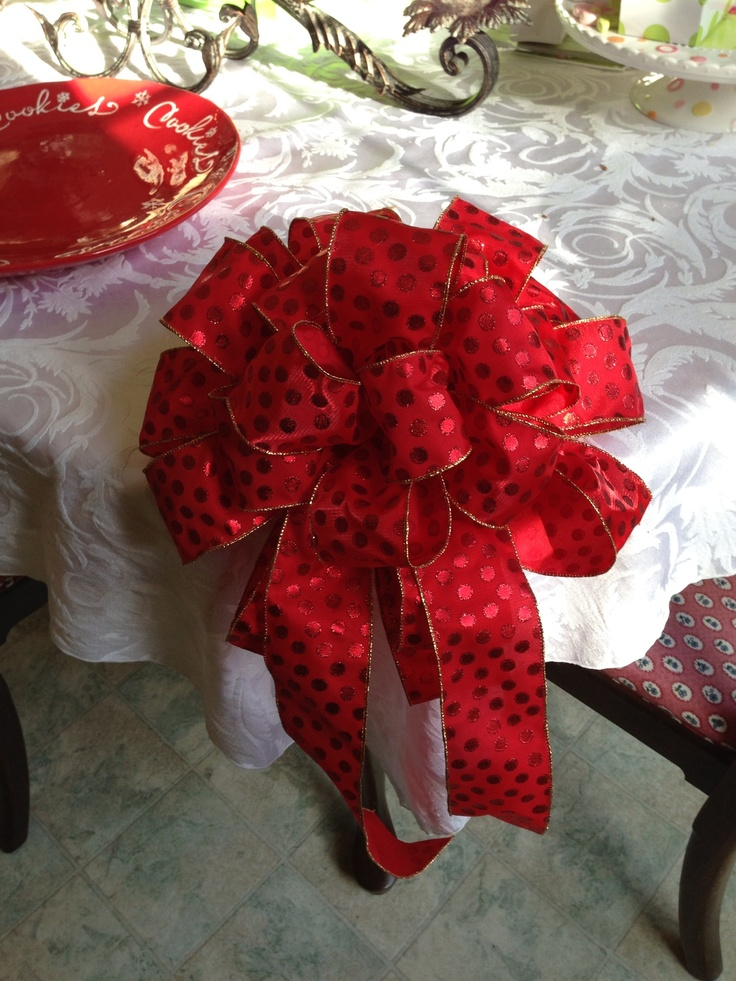 Big Red Christmas Bows from The White Orchid
