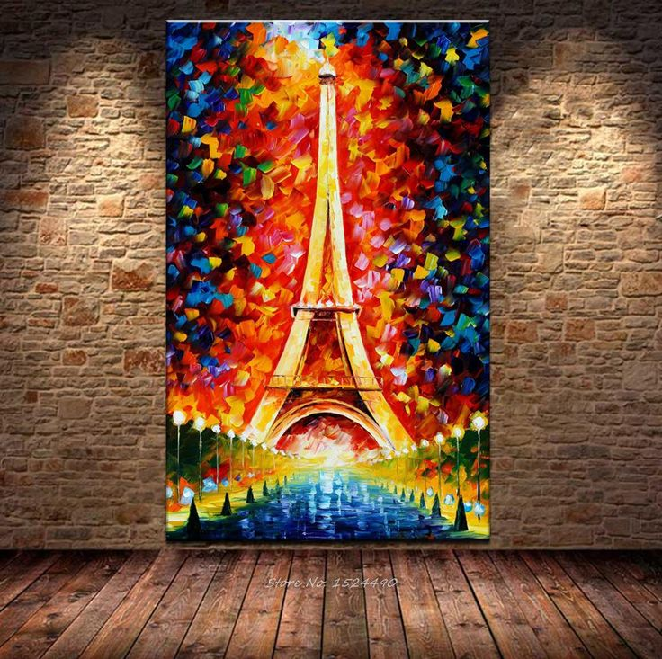 Find More Painting & Calligraphy Information about 100% Handmade Romantic City Paris Eiffel Tower Landscape Oil Painting Palette Knife Hand Paintings Handpainted Oil Painting,High Quality painting table for kids,China painting lightning Suppliers, Cheap painting brass from Lovely Arts home on Aliexpress.com