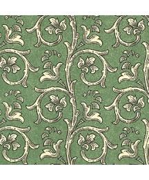 Green Dappled Garland Print Italian Paper ~ Carta Varese Italy