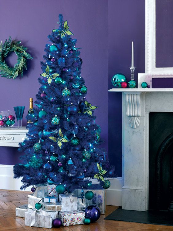 Butterflies On Xmas Tree Interiors Pinterest Purple