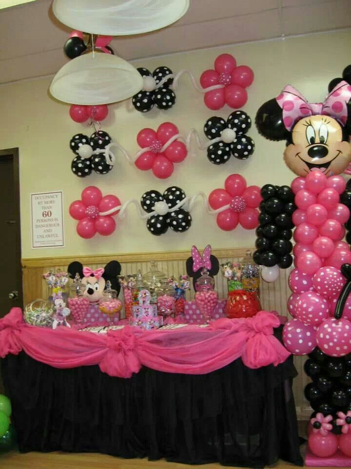 Minnie Mouse Candy Table Candy Buffet Tables By