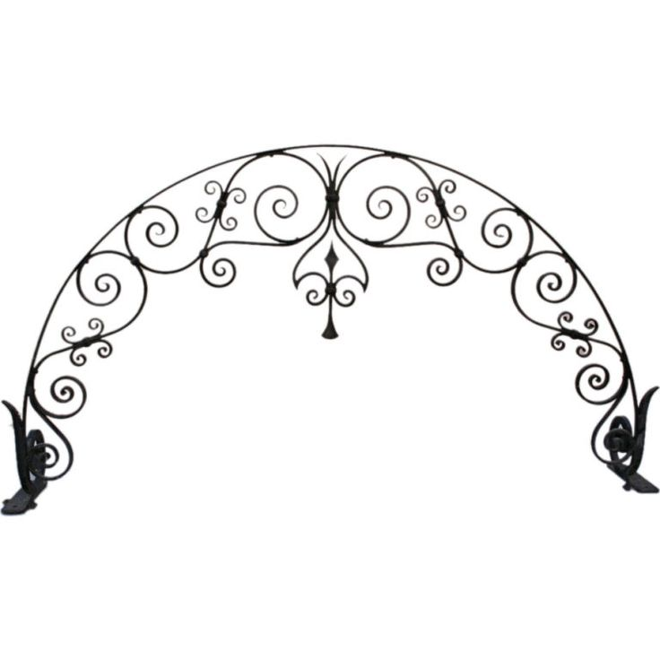Beautifully hand-wrought iron arch with quality ironwork. Would be wonderful in a garden atop a pair of columns. sold