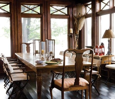 Photo Gallery: Traditional Cottages | House & Home..Kenny G's cottage dining room.