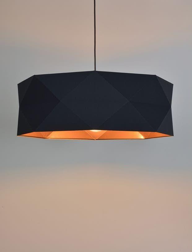 Suspension E27 Design Pliage Tissus Noir Irise 1 X 100 W Corep Leroy Merlin Lamp Light Fixtures Pendant Light