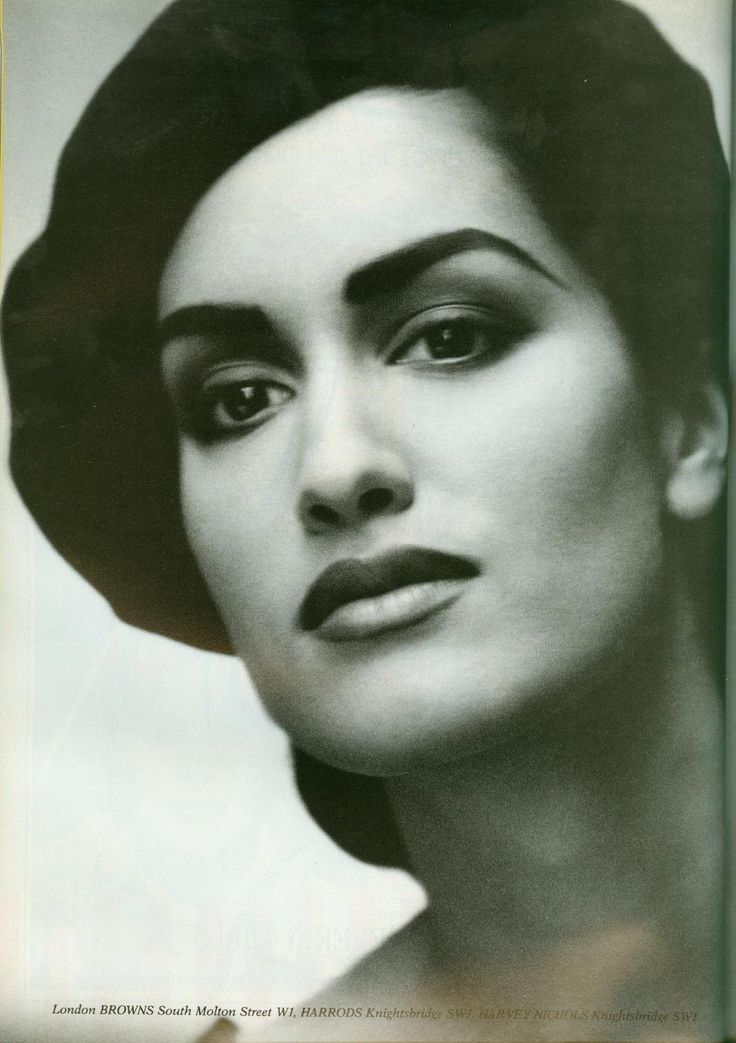 Yasmeen Ghauri by Peter Lindbergh - Sonia Rykiel Campaign, Spring 1991