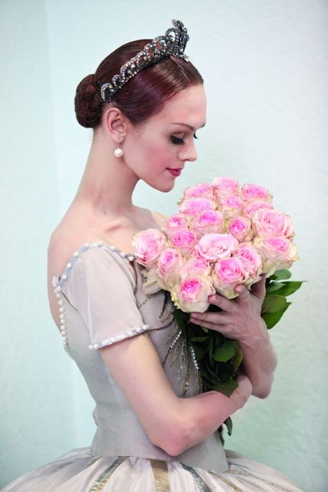 Ulyana Lopatkina (Principal, Mariinsky Ballet)  I can't even explain how good it feels when you have your flowers after the recital.  Just so awesome.  :)