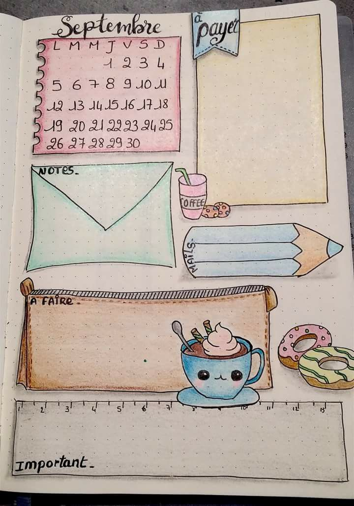 HAND DRAWN PLANNER PAGE