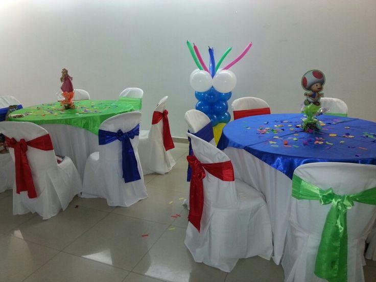 Mesa decoradas de mario