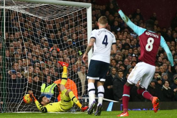March 2nd. 2016:Tottenham missed the chance to go top of the Premier League as Michail Antonio's first-half goal saw West Ham win 1-0 to leave Spurs three points adrift of leaders Leicester.