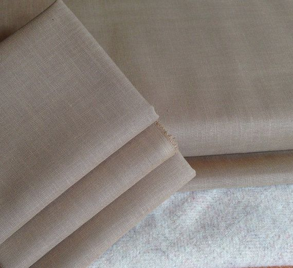 Premium Weavers Cloth  Maple Cream  Fat by ThreeSheepStudio