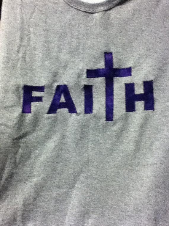 Cute faith crew neck