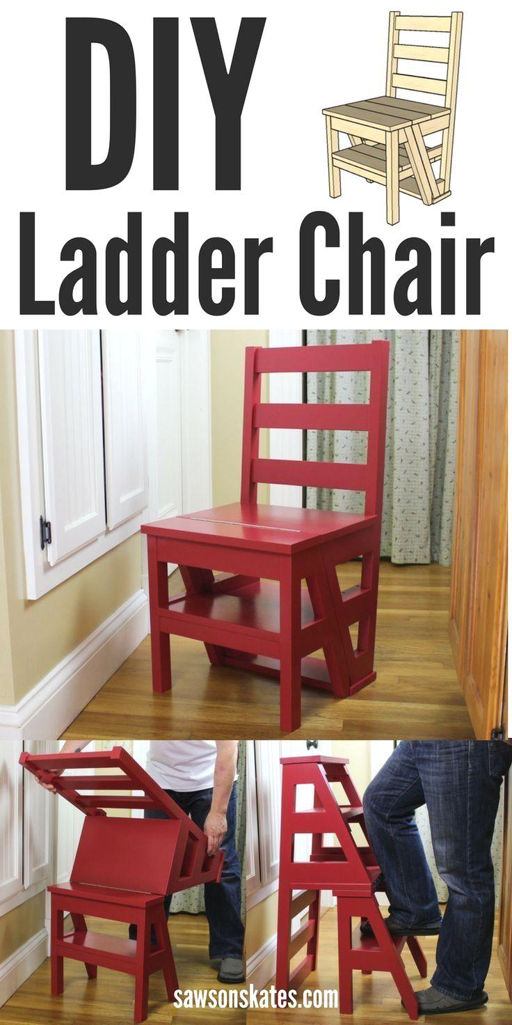 Best Diy Wood Projects In 2020 Diy Ladder Ladder Chair Diy Chair