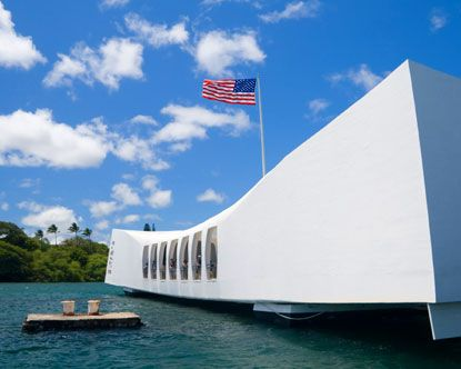 May 30, 1962 was the first day of Pearl Harbor memorial over the wrecked of USS Arizona. Since that day, main ceremony of Pearl Harbor memorial was always above the buried battleships.