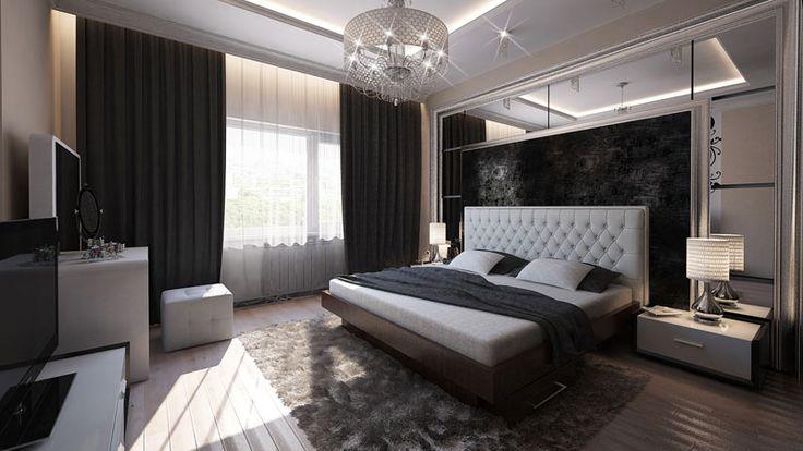 Портфолио -Дизайн квартир в Пензе -Дизайн спальни 20 кв.м. в коттедже г.Пенза