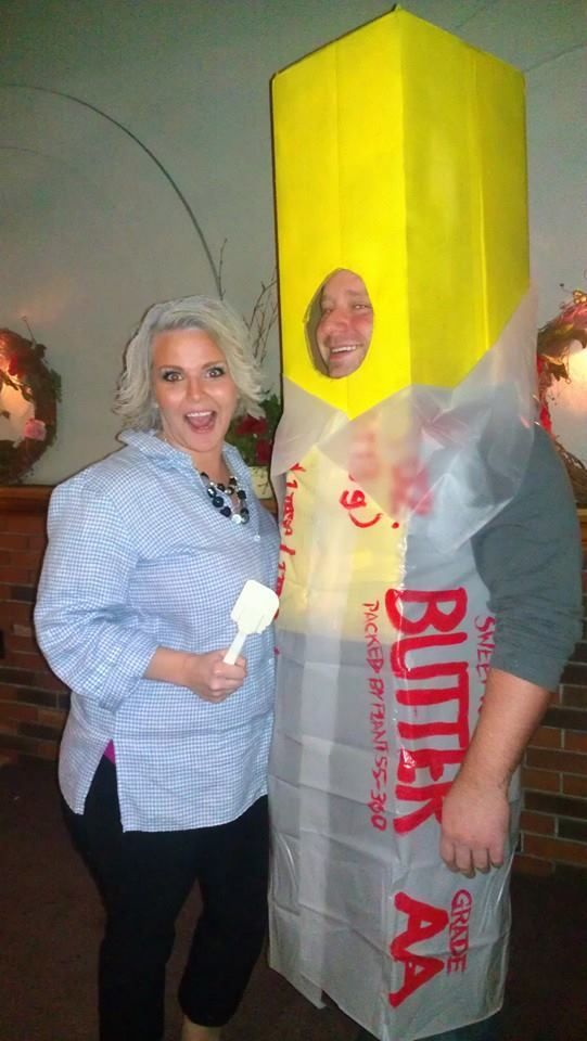 Paula Deen and butter costume. So funny!