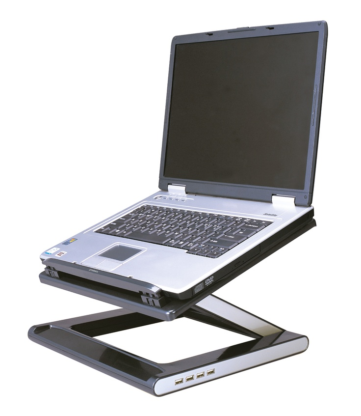 convert your laptop into an ergonomic workspace with defianz desk stand height and angle adjustable notebook cooler stand