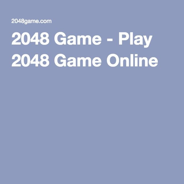 2048 Game - Play 2048 Game Online