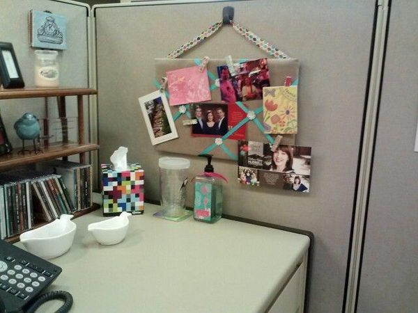 Cubicle decorations cubicles and wooden bookcase on pinterest for Cool things for your cubicle