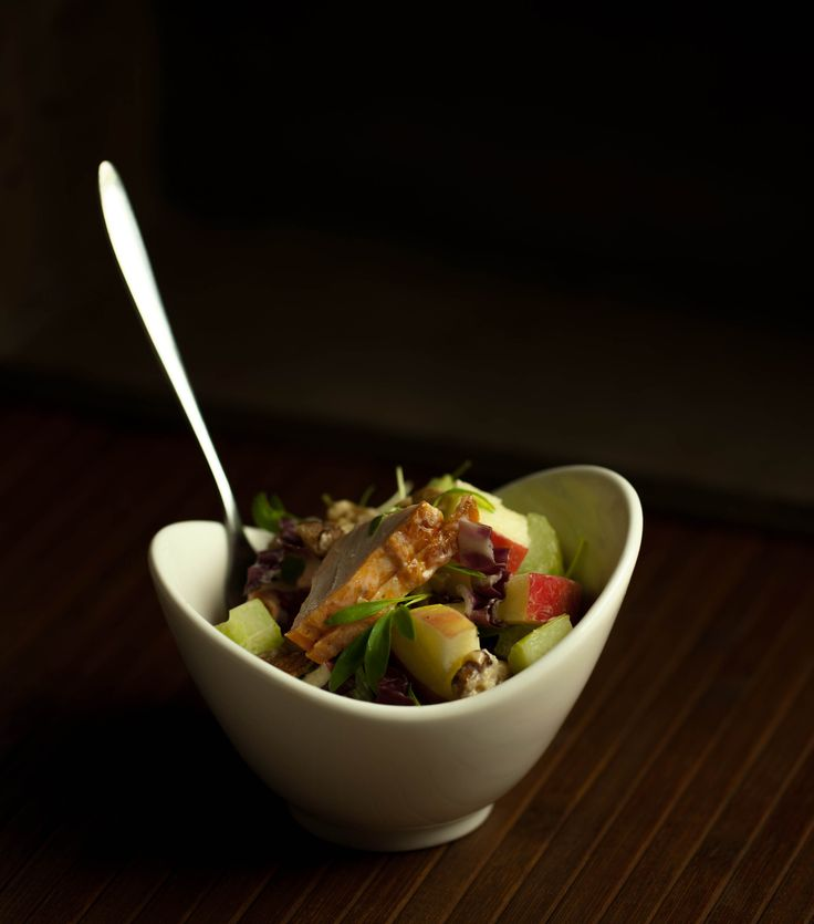 Smoked chicken waldorf salad #catering Melbourne #bowl food #finger food