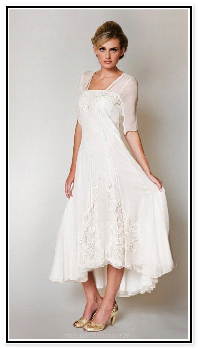 Informal Wedding Dresses For Older Brides: Second Wedding Dresses For Older Brides