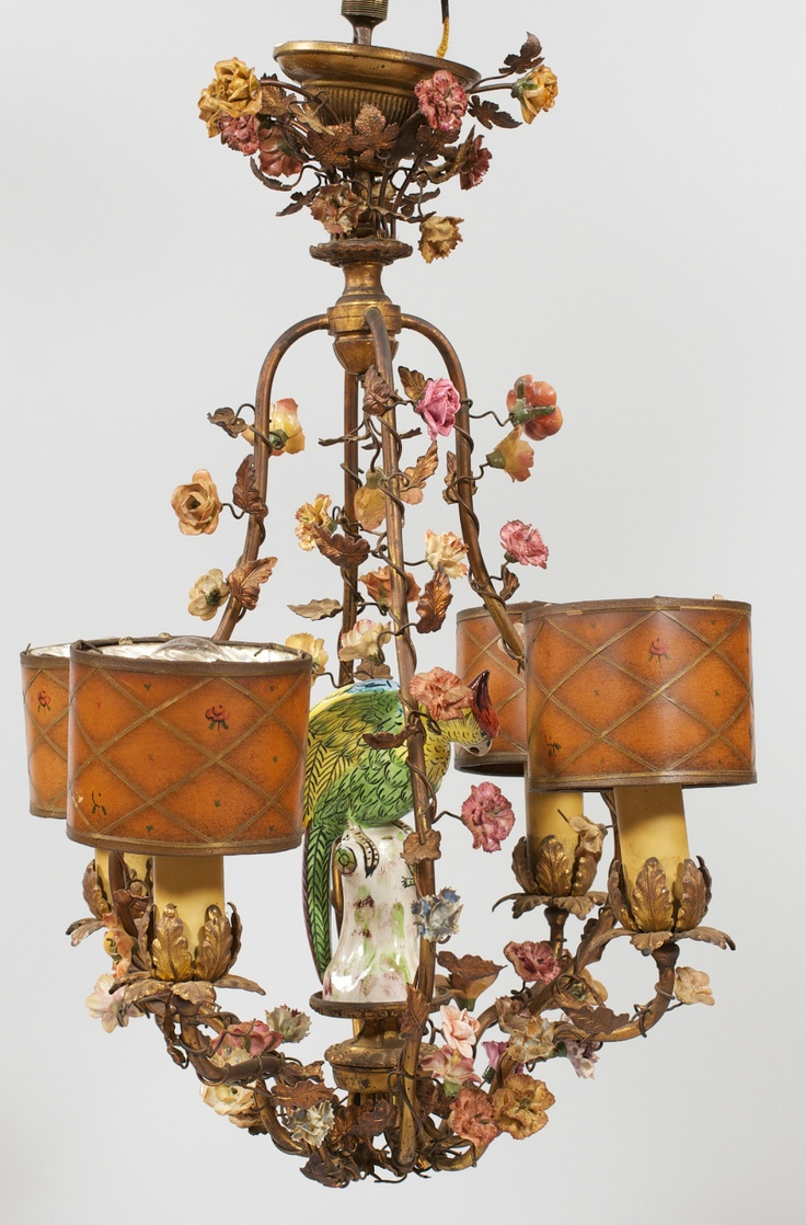 Antique Tole Dresden French Porcelain Figural Bird Chandelier w Applied  Flowers   eBay163 best Lamps  Antique and Practical images on Pinterest  . Antique French Lamps On Ebay. Home Design Ideas