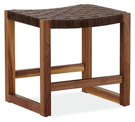 Reed 19w 16d 18h Stool in Walnut - Benches & Stools - Living: Seating - Room & Board